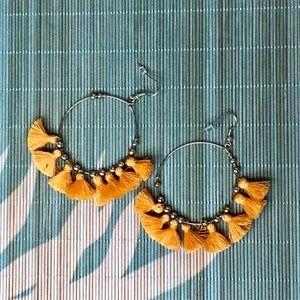 Jewelry - Just in! Yellow Boho Fringe Tassel Earrings